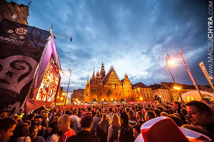 Euro 2012 - Polska vs Rosja - Strefa Kibica Wrocław fot.: Maciej Chyra