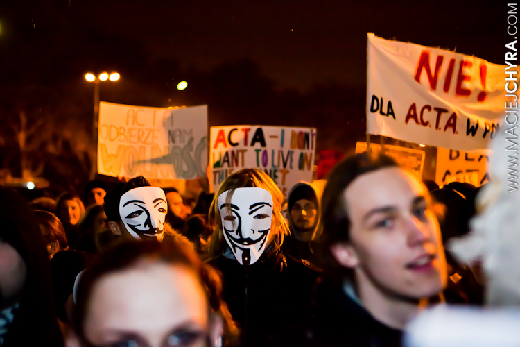 Demonstracja przeciw ACTA fot. Maciej Chyra