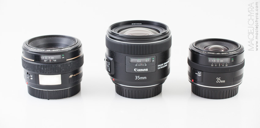 Canon EF 50mm f1.4, Canon EF 35mm f2.0 USM IS, Canon EF 35mm f2.0