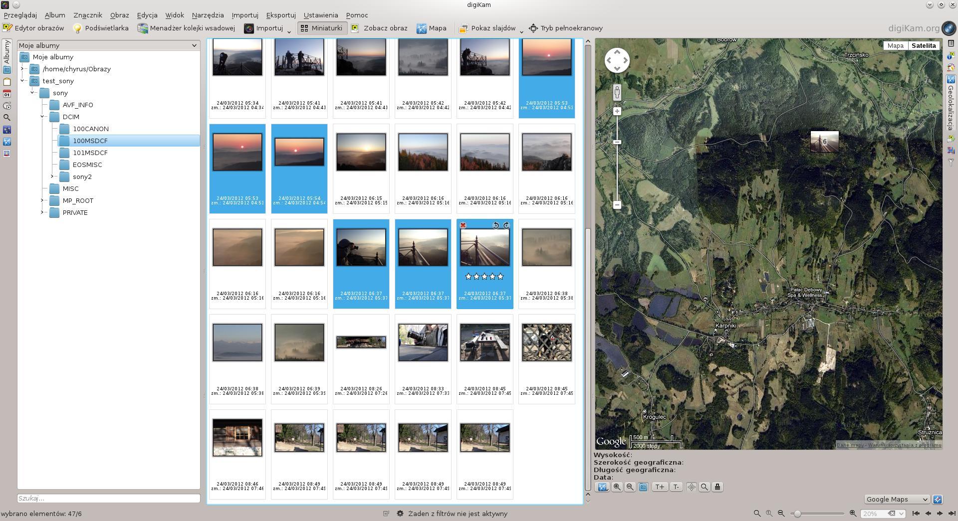 digikam - geolokalizacja www.maciejchyra.com
