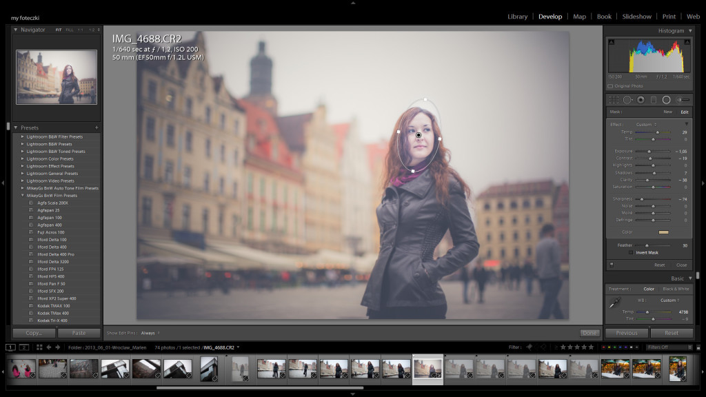 Lightroom 5 ratial tool fot.: Maciej Chyra