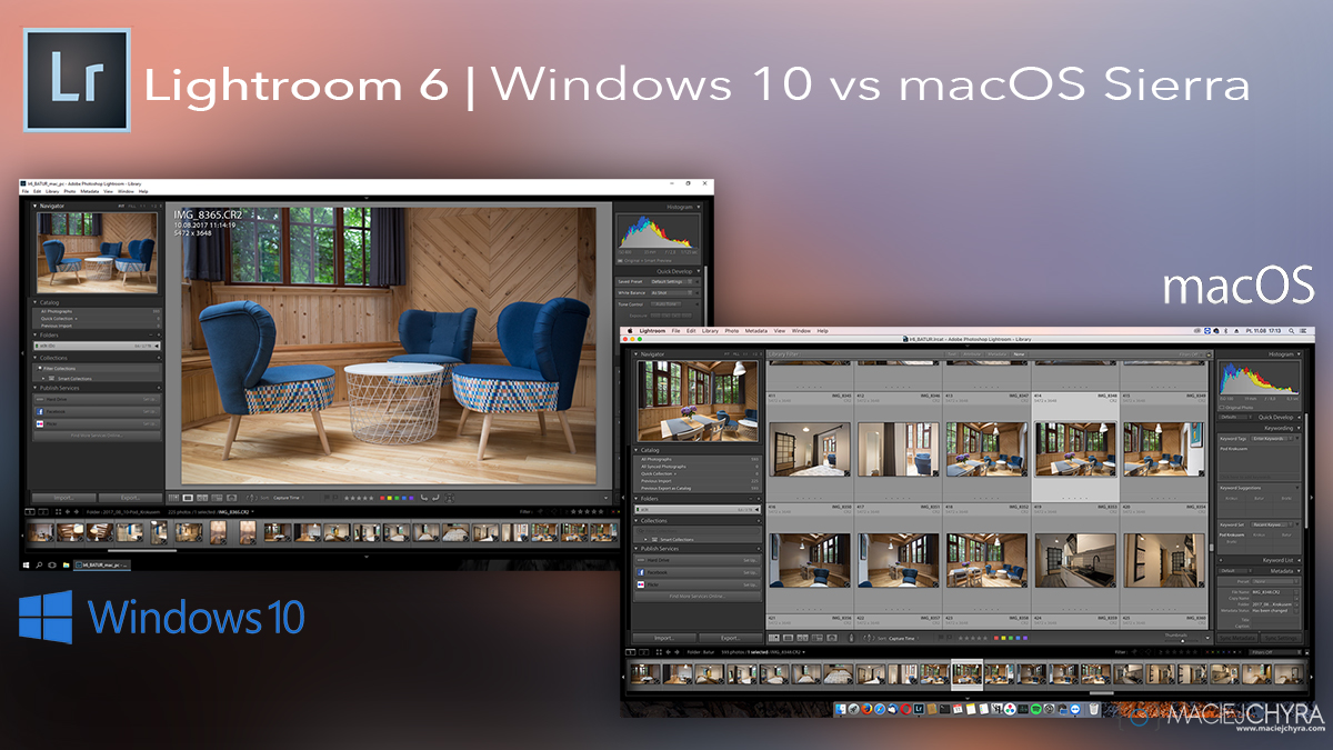Lightroom 6 macos sierra vs windows 10 wydajność